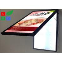 Quality Door Open LED Light Box Sign , Size A2 Lockable Poster Frame For Restaurant wholesale