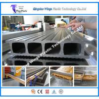 China WPC PVC Profiles PE WPC Profiles Outdoor Decking Fence Profile Cross Beam Prfoile Column Profile Extrusion Line on sale