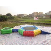 Quality 0.9mm PVC Tarpaulin Inflatable Aqua Trampoline Combo For Swimming Pool wholesale
