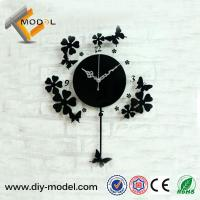 Quality Modern Art Acrylic Wall Clock with Pendulum for Wedding Souvenirs Gift wholesale