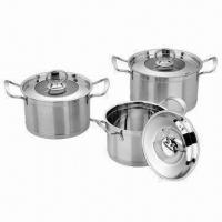 Quality 6-piece Cookware Set, Made of Stainless Steel wholesale