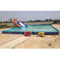 Quality Outdoor Above Ground Pool Metal Frame Swimming Pool for water park wholesale