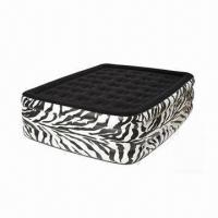 China Comfort Flock Top Raised Air Bed with Zebra Print on sale