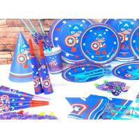 China Captain America New Kids Birthday Party Decoration Set Birthday brown bear Theme Party Supplies Baby Party set on sale