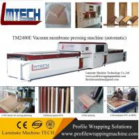 China Two working tables PVC pvc foil vacuum membrane press machine on sale