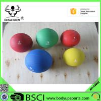 Cheap Rubber Gym Exercise Ball Medicine Ball With Grip Customized Color for sale