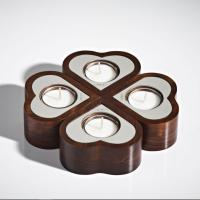 Cheap Home Decoration Unique Jar Candles Wooden Style Tealight Candle Holder for sale
