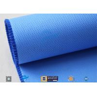 Quality 510GSM Silicone Coated Glass Fabric Plain Weave Electrical Insulation Blue wholesale