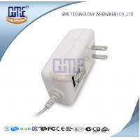 Quality AC DC 12V 2A Power Adapter , US Overseas Plug Adapters CEC Level VI wholesale