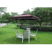 Cheap 2.5 M Square Offset Patio Umbrella Stainless Steel Frame For Restaurants for sale