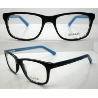 Quality Flexible Blue Handmade Acetate Optical Frame for Men / Women, Lightweight wholesale