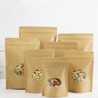 Quality Clear Doypack Candy Kraft Paper Zipper Bags with Window wholesale