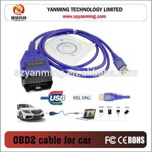 China USB Interface VAG KKL OBD2 for AUDI VW Fiat car diagnostic cable on sale