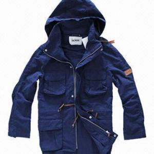 Quality Fashionable Windbreaker, Unisex Khaki, Navy Lifestyle Jacket/Coat, Softshell Jacket, Detachable Hood wholesale