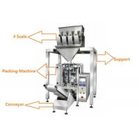 Quality 1KG Sugar / 1KG Rice Grain Packing Machine With 4 Linear Weigher wholesale