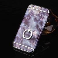 Quality Hard PC 3 in 1 Plating Border Marble Grains Ring Buckle Cell Phone Case Cover For iPhone 7 7 Plus 6 6s Plus wholesale