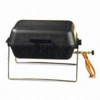 Quality Die-cast Aluminum Quality Portable Gas BBQ Grill with Regulating Valve and Lava Rocks wholesale
