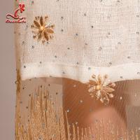 Cheap Multi Color Tulle Mesh Embroidered Beaded Lace Fabric Light And Transparent for sale