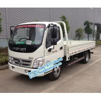 Quality Diesel engine type Foton Aoling 6m length 4X2 2 ton small cargo truck for sale BJ1049V9JEA-3 cream / red / blue color wholesale