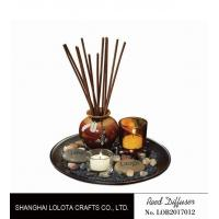 Quality Brown Room Reed Diffuser For Large Room , Ceramic Aromatherapy Diffuser wholesale