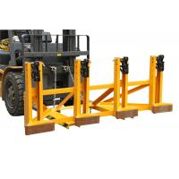 China Black Eager - Gripper Forklift Drum Lifter with Adjusting Height , Bandage Type on sale
