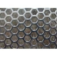 Buy cheap Galvanized Perforated Metal Mesh Hexagonal / Round Hole 3mm - 200mm Aperture from wholesalers