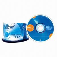 China Printed DVD+Rs/Blank DVDs in Cake Box Pack with 4.7GB Capacity and 16x Recording Speed on sale