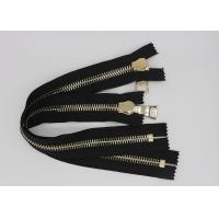 Quality Gold Euro Teeth 36 Inch Heavy Duty Metal Zippers 10 # 12 # For Luggage / Shoes wholesale