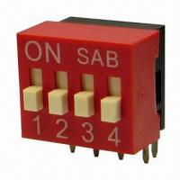 Quality Right Angle DIP Switch with 5,000 Cycles Long Lifespan  wholesale