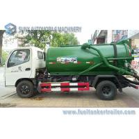 Quality Foton 8CBM 8000L 8M3 Vacuum Tank Truck Cummins 140hp , 4x2 Sewage Suction Truck wholesale