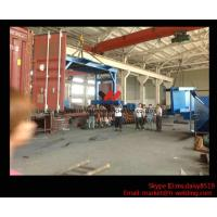 Cheap Eco-friendly High Speed H Beam Shot Blasting Machine With Rubber Curtain / CE Approved for sale