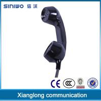 Quality Engineering PC/ABS noise cancelling wall jack payphone kiosk vandal resistence telephone handset wholesale