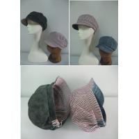 China 100% Cotton Fabric Baker Boy Cap In Reversible Style, Casual Ladies' Fashion Baker Boy Hat on sale