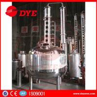 Quality 100 Gallons Steam Heated Vodka Still Distillation Column With Bubble Plates wholesale