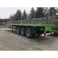 China 13T Loading Capacity Howo Flatbed Semi Trailer With Air Suspension on sale