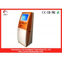 Quality 19 Freestanding Bill Payment Kiosk, Bitcoin Vending Machine With Bill Recycler wholesale
