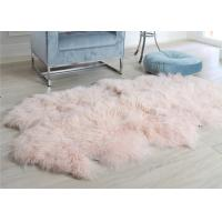 Quality Pink Curly Hair Extra Large Sheepskin Rug Comfortable Anti Shrink For Home Floor wholesale
