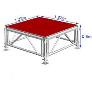 China Customized Aluminum Stage Platform , Adjustable Stage Platform For Party on sale