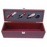 Quality Mahogany, Chestnut, MDF Wine Packaging Boxes with Button Closure, Drawstring, Eyelet wholesale