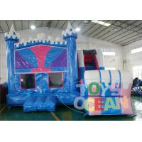 Quality 18OZ 0.55mm PLATO PVC Kids Inflatable Castle Bounce House With Slide Panel wholesale