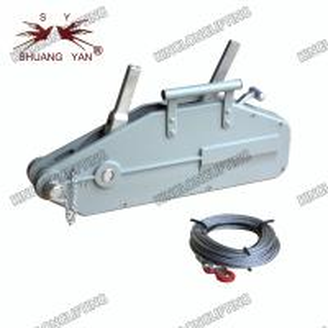 Quality 20 Meters Wire Rope Winch Wide Beam Flange Adjustment Range Self Locking wholesale