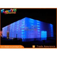 Quality PVC Coated Nylon Inflatable Cube Tent With Led Lighting / Blow Up Event Tent wholesale