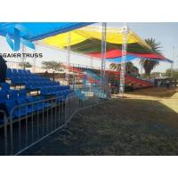 China Basketball Court Steel Grandstand Opal Plastic Material Easy To Maintenance on sale