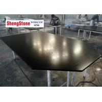 Quality Special Shape Epoxy Resin Worktop Surface Smooth For Laboratory , Black Color wholesale