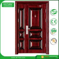 Quality House Entry Main Front Door Metal Flush Steel Security Door Design with Galvanized Handle wholesale