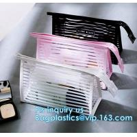 Quality Toilet Towel Packaging Custom Clear Plastic PVC Travel Cosmetic Bag with Zipper, Eco friendly clear pvc zip lock pouch Z wholesale