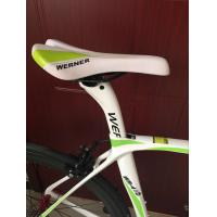 Cheap High quality white full carbon fiber 540mm frame 700c racing bicycle/bicicle with Shimano 18 speed for sale