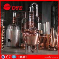 Quality 300 Copper Alcohol Distiller Distillation Equipment for whiskey brandy wholesale