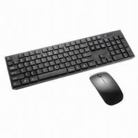 Quality 2.4GHz Wireless Super Slim Standard Keyboard and Mouse Combo, 10m Working Distance wholesale