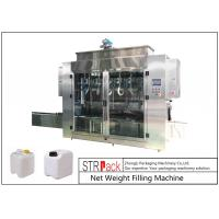 Quality Pesticide Liquid Weighing Filling Machine 10-16 B / MIN To Fill 5 - 25L Drums And Jerrycans wholesale